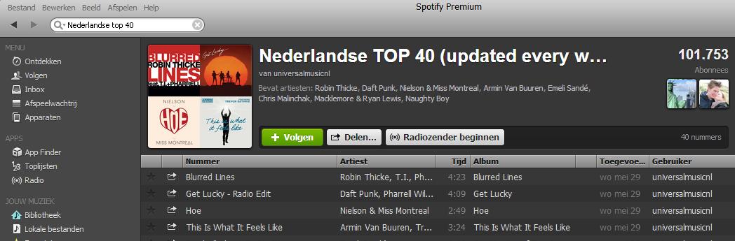 Spotify Top 40