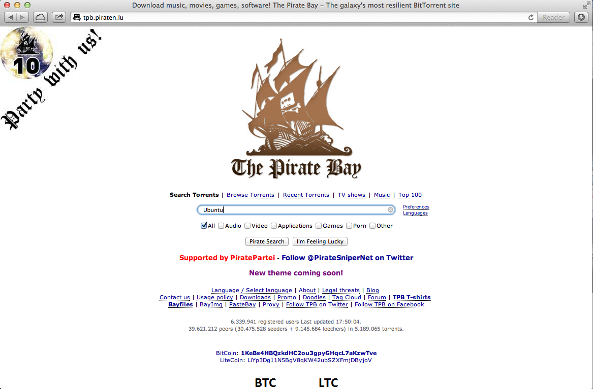 Downloaden Pirate Bay