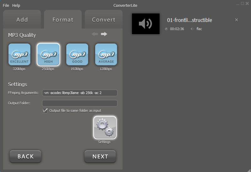 FLAC naar MP3 omzetten