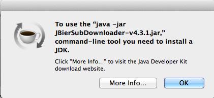 JBierSubDownloader Mac OSX