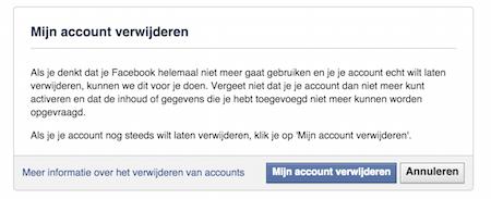 Facebook verwijderen
